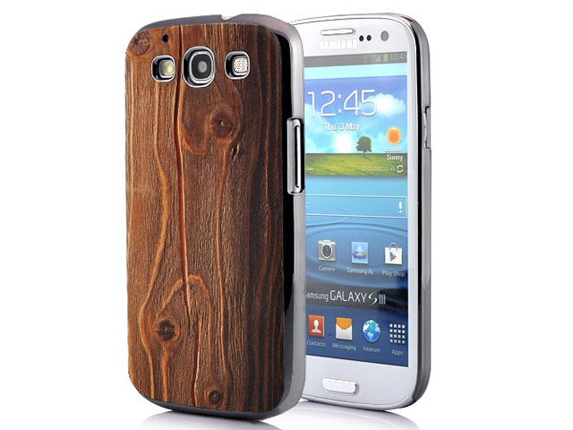 Deluxe Wood-look Hard Case Hoes voor Samsung Galaxy S3 (i9300)