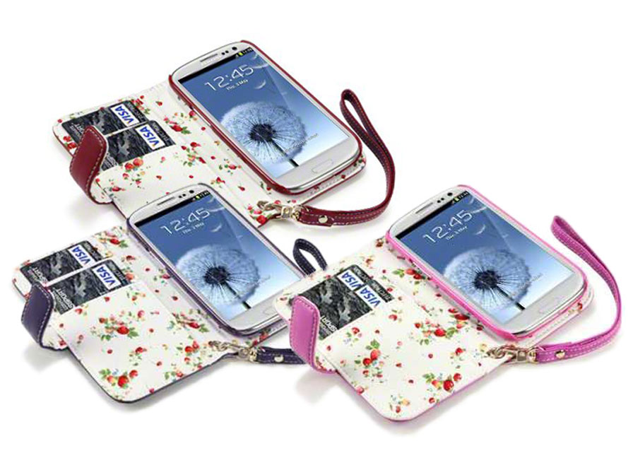 CaseBoutique Flower Wallet Case - Samsung Galaxy S3 (Neo) hoesje