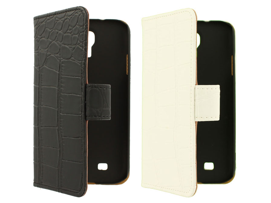 Croco Book Case Hoesje voor Samsung Galaxy S4