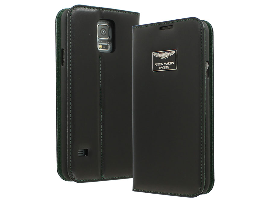 Aston Martin Leather Folio - Samsung Galaxy S5 hoesje