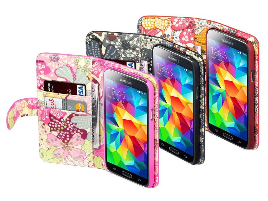 caseboutique lily wallet case - hoesje voor samsung galaxy s5