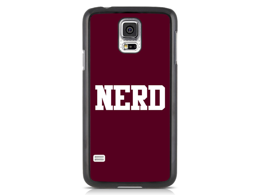 CaseBoutique NERD Hard Case - Samsung Galaxy S5 hoesje