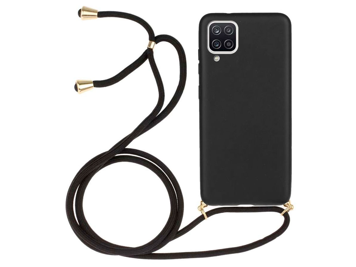 Just in Case Necklace Case - Samsung Galaxy A12 hoesje Zwart