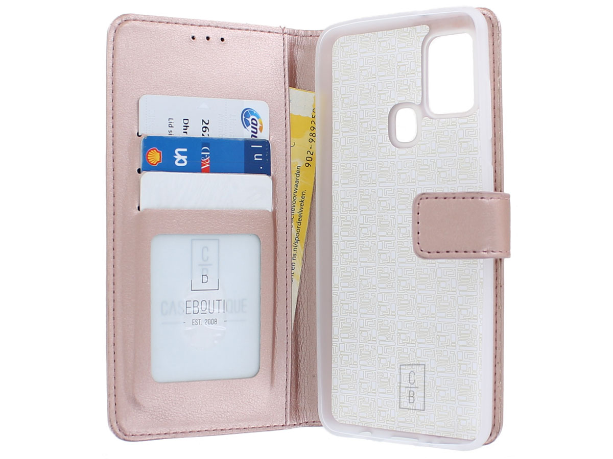 Bookcase Mapje Rosé - Samsung Galaxy A21s hoesje
