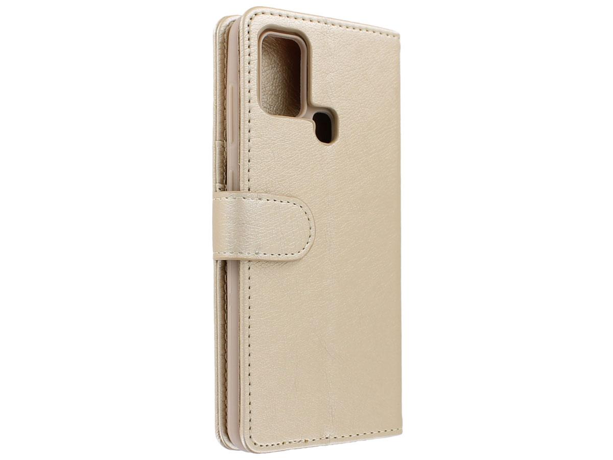 Book Case met Ritsvakje Goud - Samsung Galaxy A21s hoesje