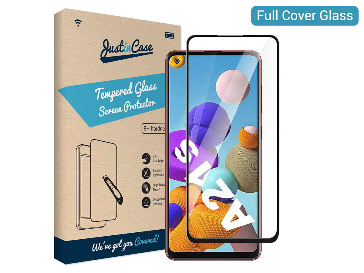 Samsung Galaxy A21s Screen Protector Curved Glass Full Cover