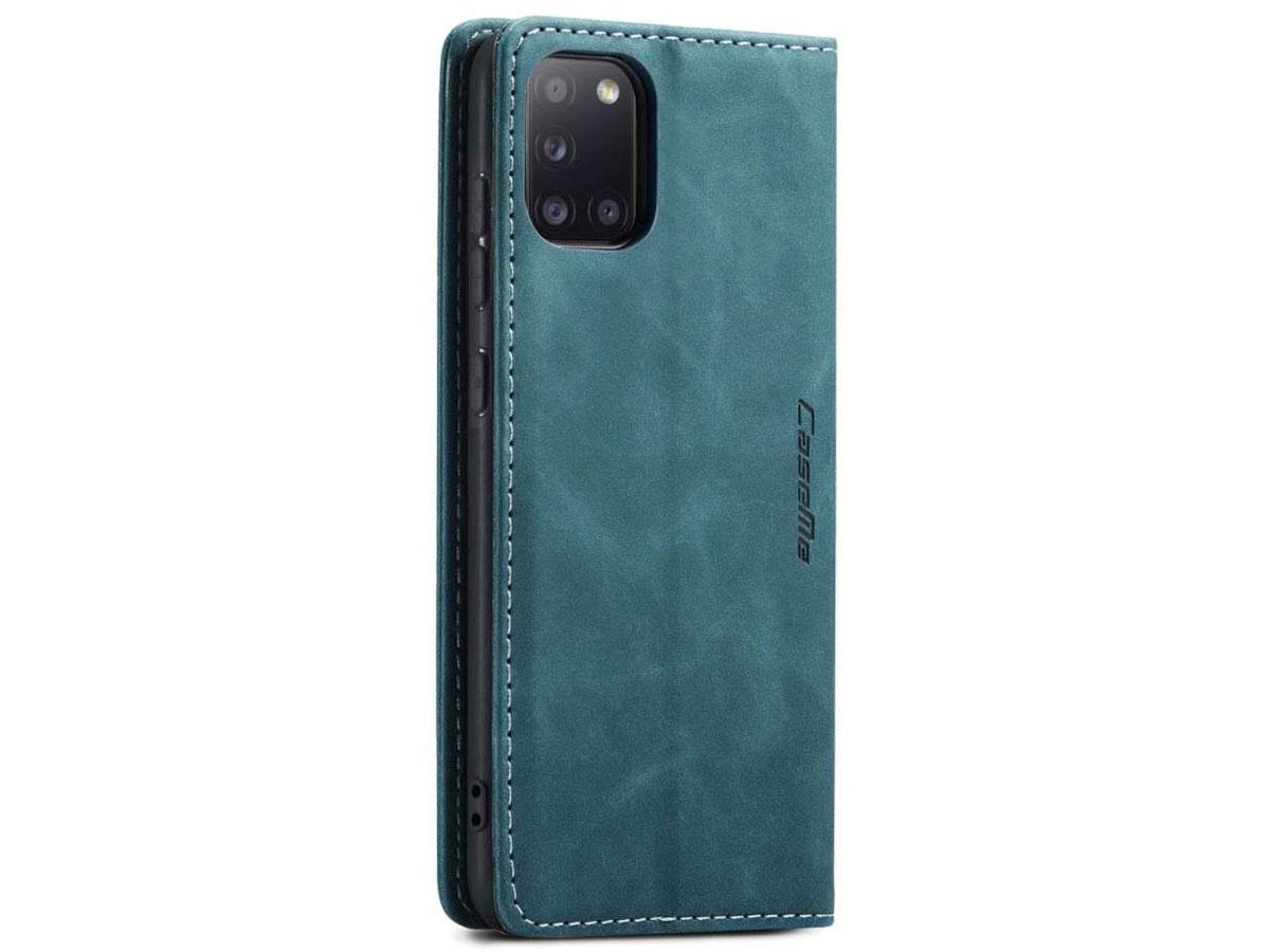 CaseMe Vintage BookCase Blauw - Samsung Galaxy A31 hoesje