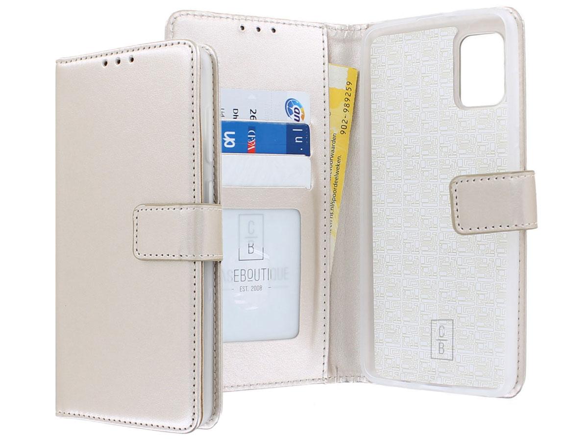Bookcase Mapje Goud - Samsung Galaxy A31 hoesje
