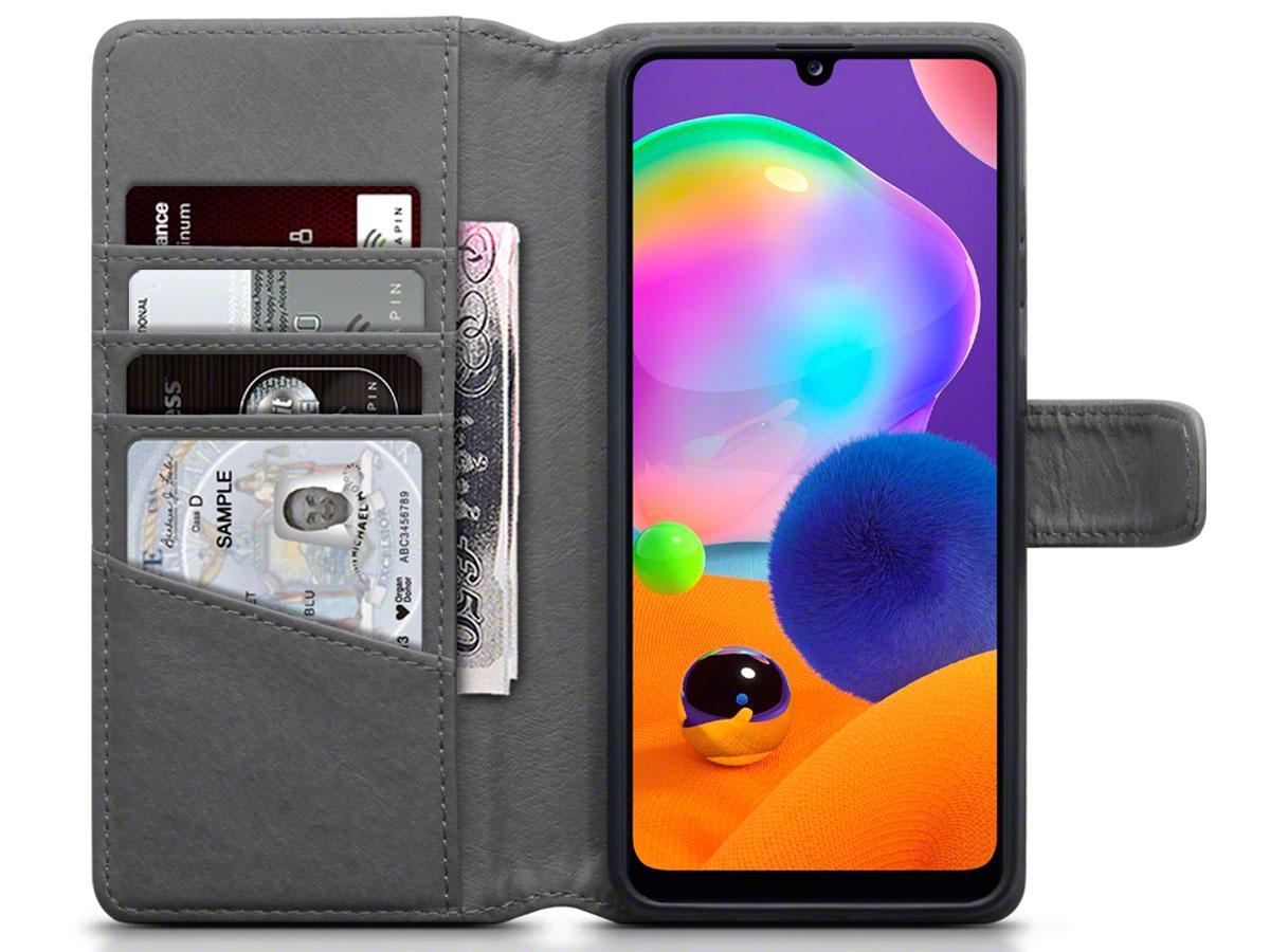 CaseBoutique Wallet Case Grijs Leer - Samsung Galaxy A31 hoesje