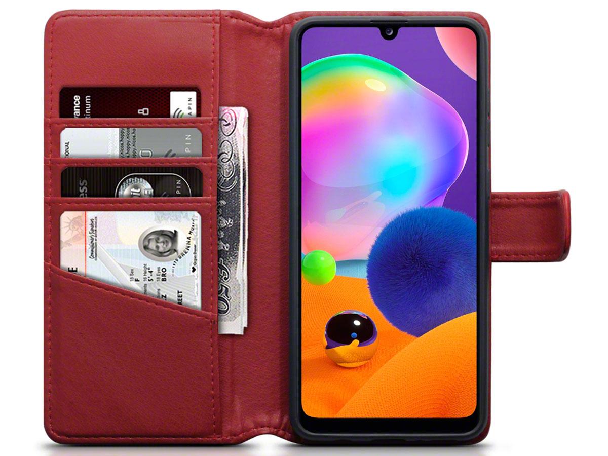 CaseBoutique Wallet Case Rood Leer - Samsung Galaxy A31 hoesje