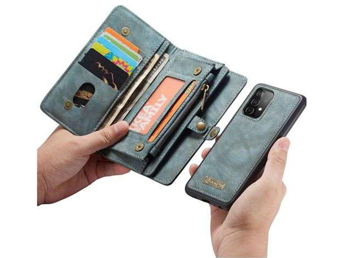 CaseMe 2in1 Wallet Ritsvak Case Blauw - Samsung Galaxy A32 5G Hoesje
