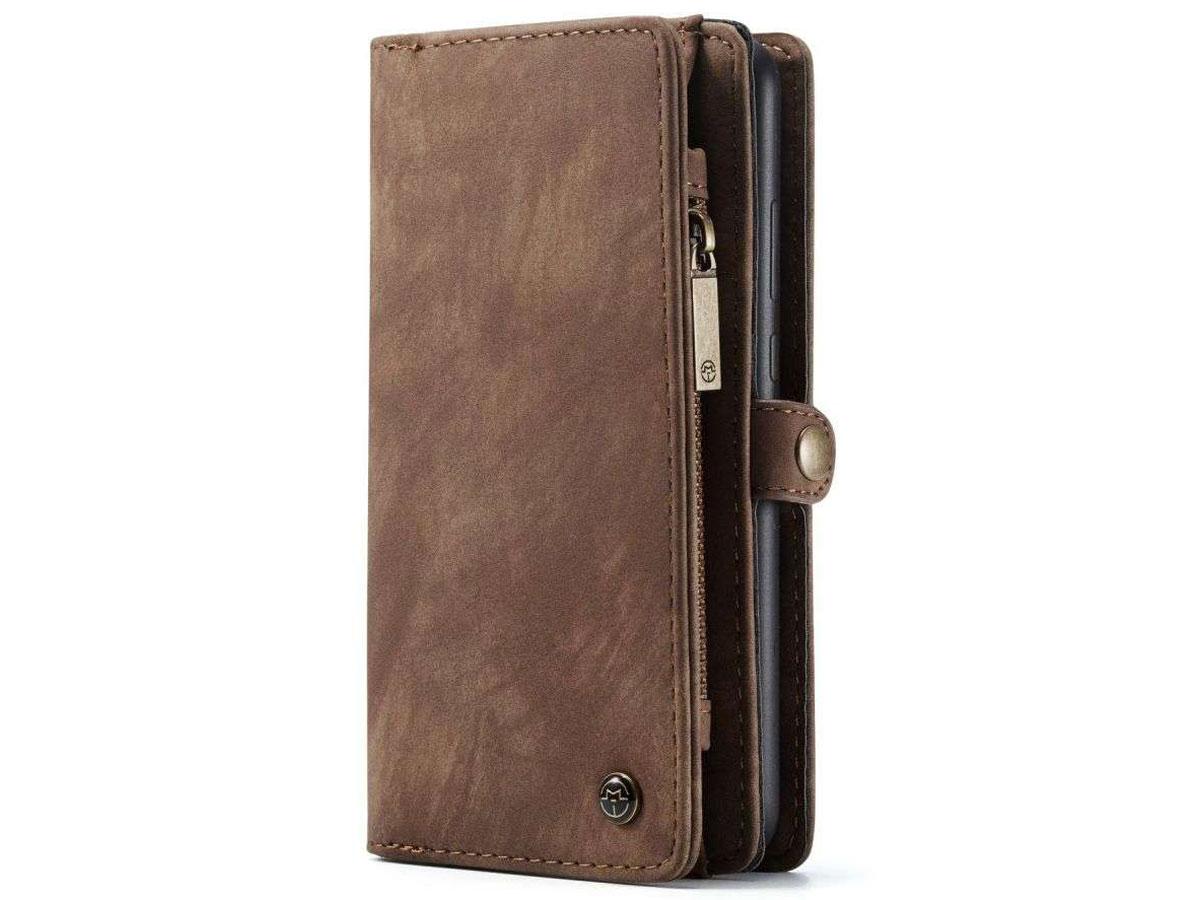 CaseMe 2in1 Wallet Ritsvak Case Bruin - Samsung Galaxy A32 5G Hoesje