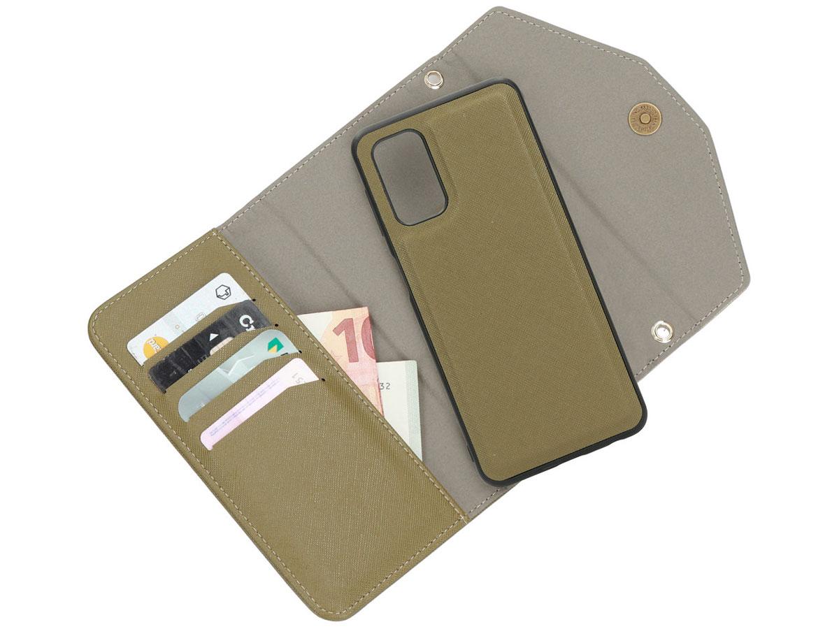 Casetastic Saffiano 2in1 Clutch Case Groen - Samsung Galaxy A32 5G hoesje
