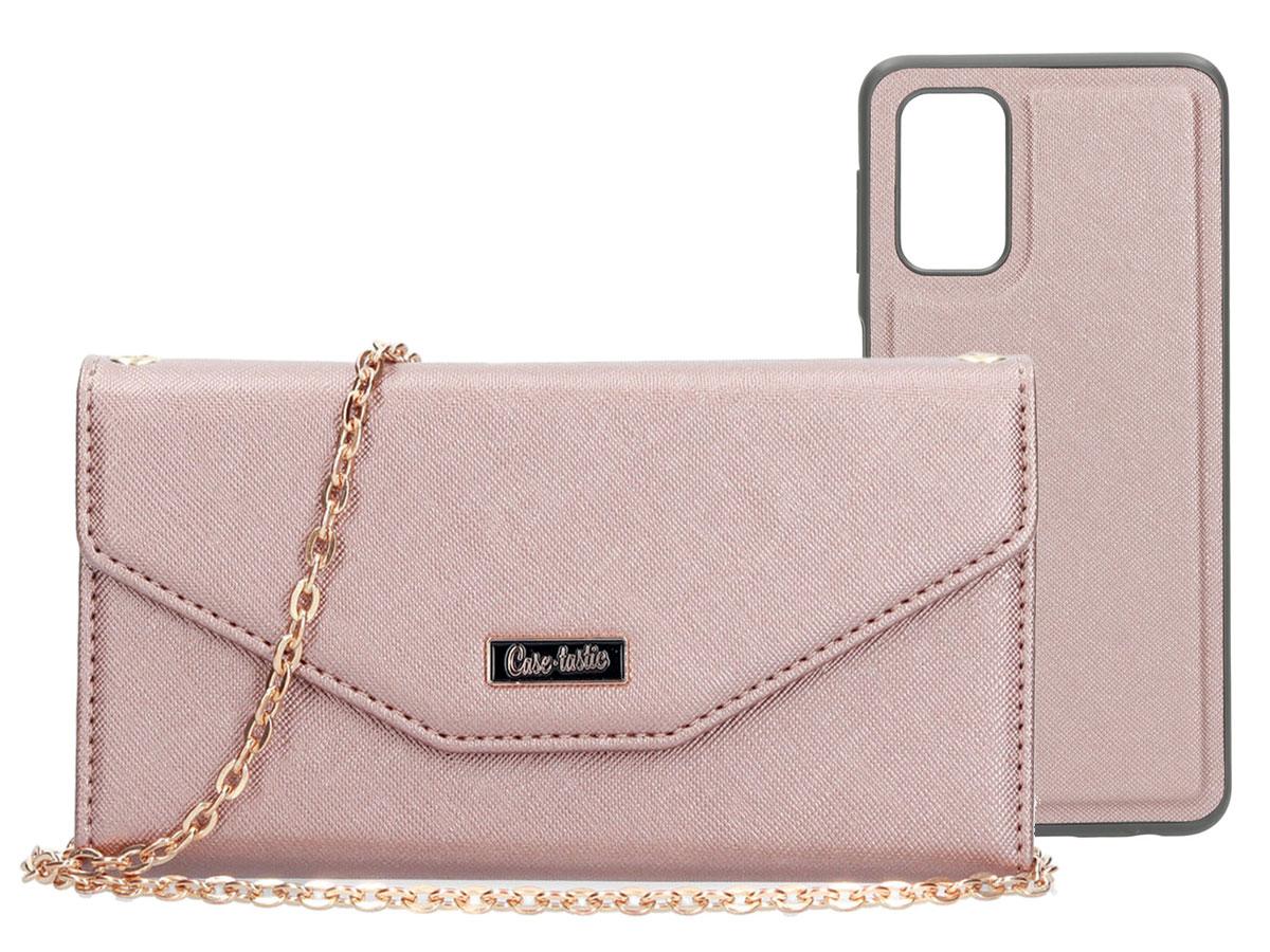 Casetastic Saffiano 2in1 Clutch Case Rose - Samsung Galaxy A32 5G hoesje Rose goud