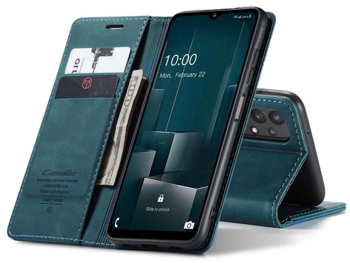 CaseMe Vintage BookCase Blauw - Samsung Galaxy A32 5G hoesje