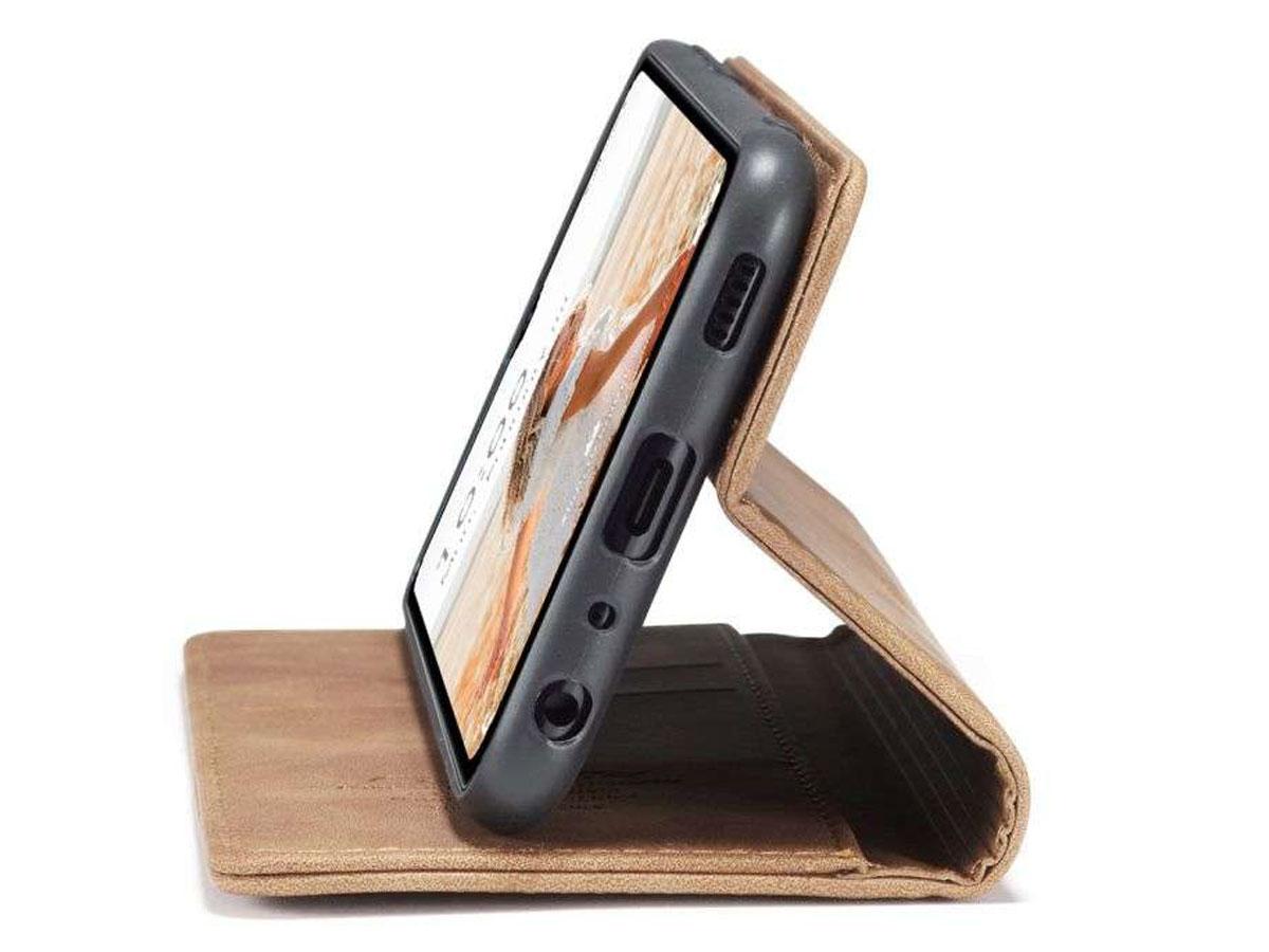 CaseMe Vintage BookCase Tan - Samsung Galaxy A32 5G hoesje