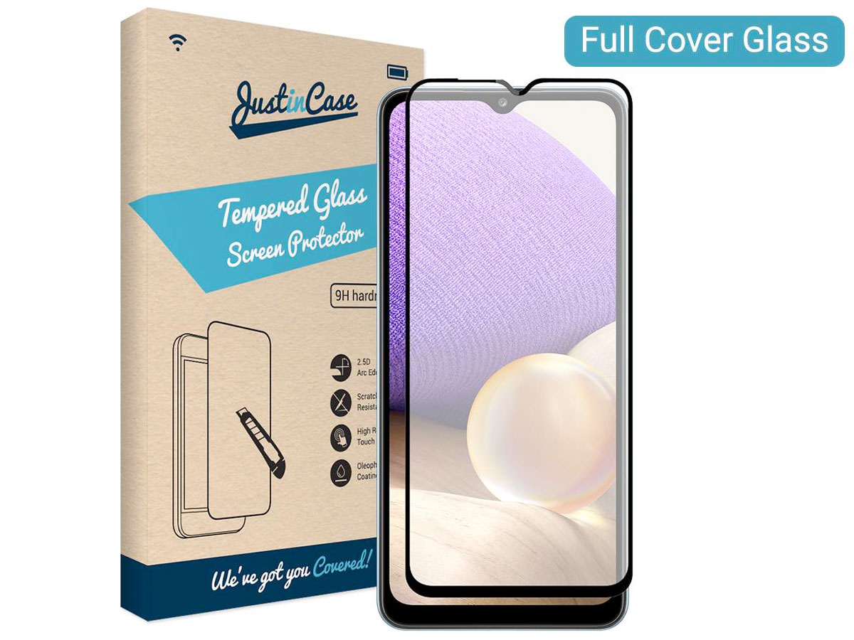 Samsung Galaxy A32 5G Screen Protector Curved Glass Full Cover Transparant
