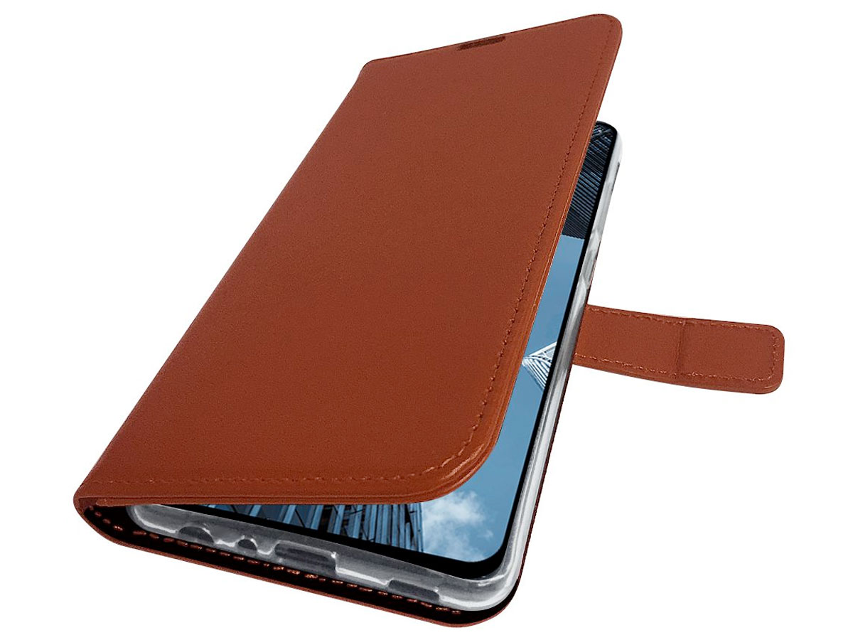 Valenta Leather Bookcase Bruin - Samsung Galaxy A32 5G hoesje