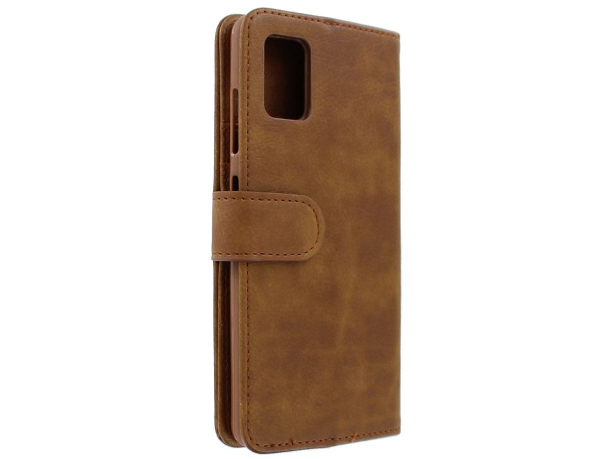 Book Case met Ritsvakje Bruin - Samsung Galaxy A41 hoesje