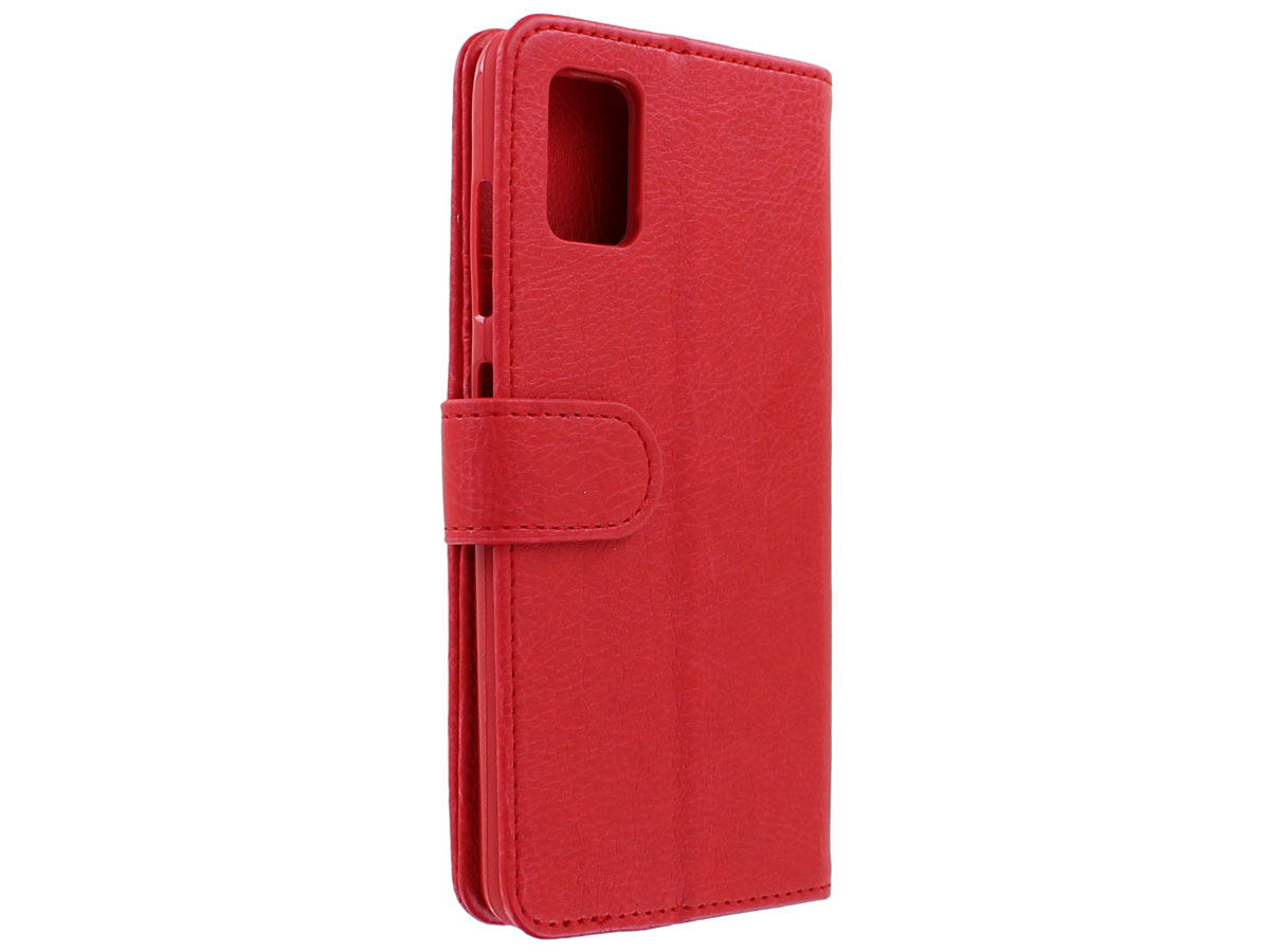 Book Case met Ritsvakje Rood - Samsung Galaxy A41 hoesje