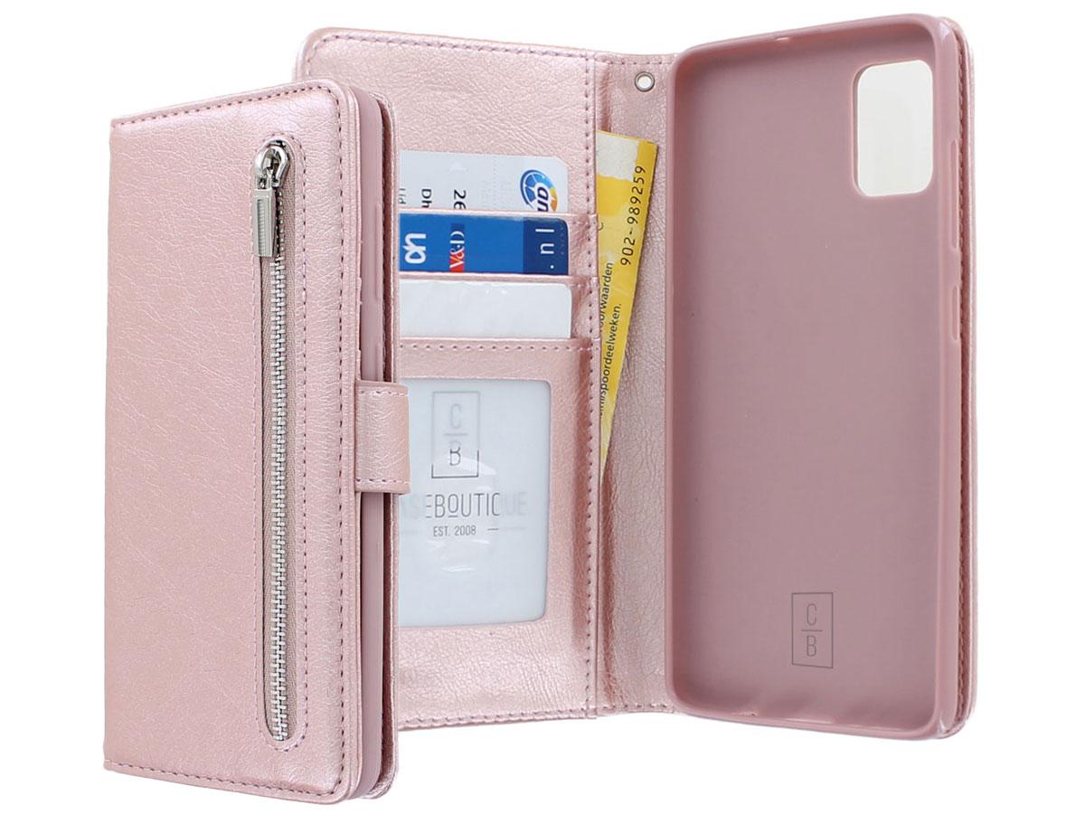 Book Case met Ritsvakje Rosé - Samsung Galaxy A41 hoesje