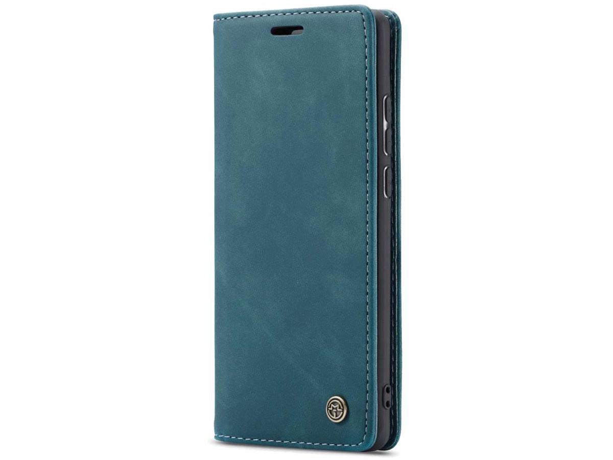 CaseMe Vintage BookCase Blauw - Samsung Galaxy A41 hoesje