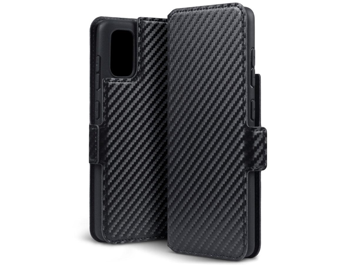CaseBoutique Slim Bookcase Carbon - Samsung Galaxy A41 hoesje