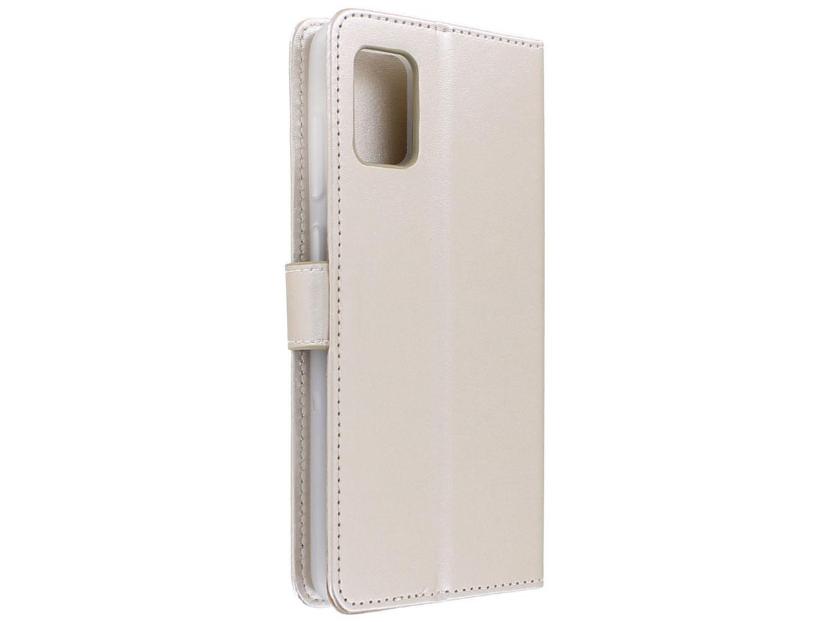 Bookcase Mapje Goud - Samsung Galaxy A41 hoesje
