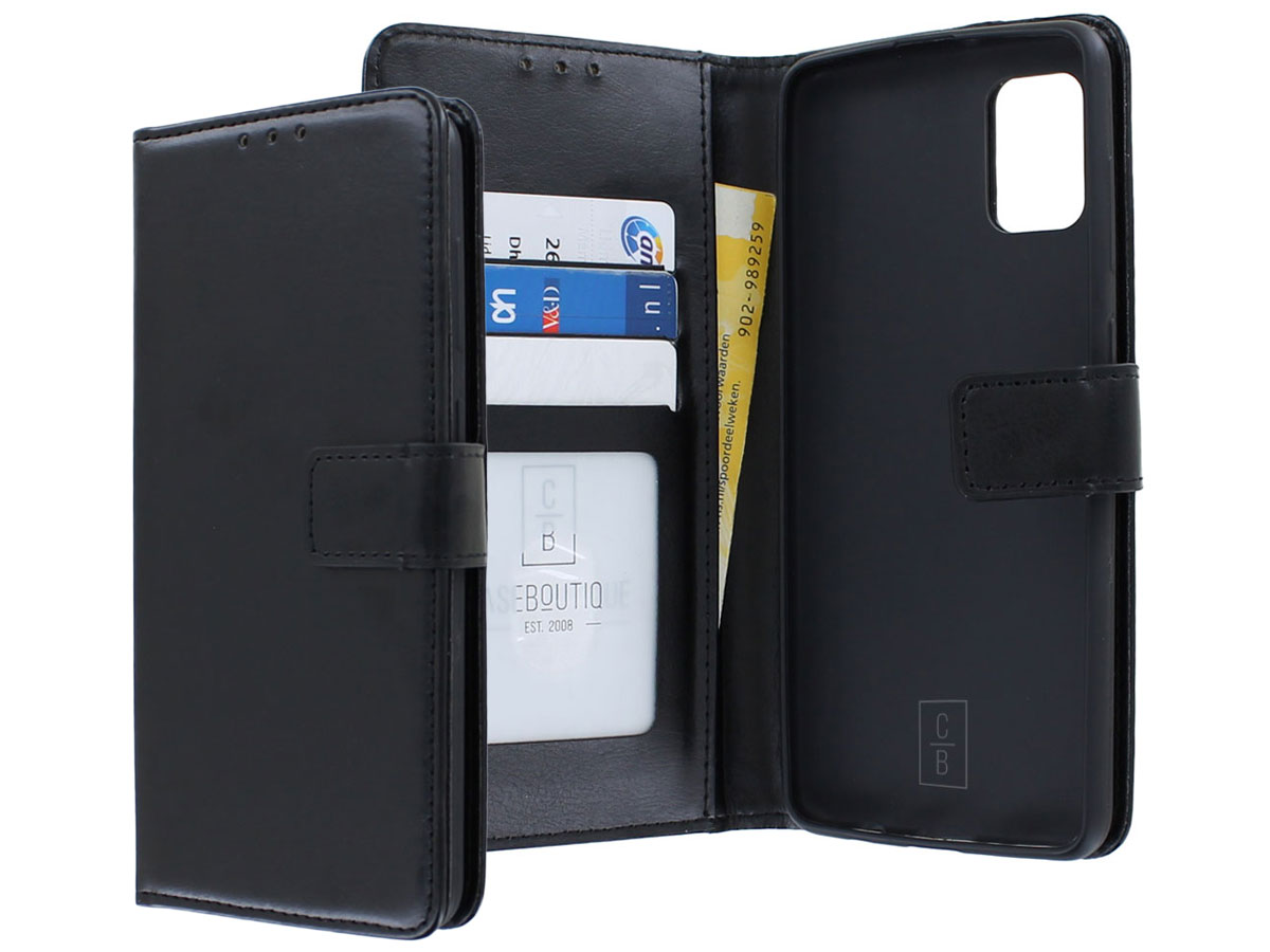 Bookcase Mapje Zwart - Samsung Galaxy A41 hoesje