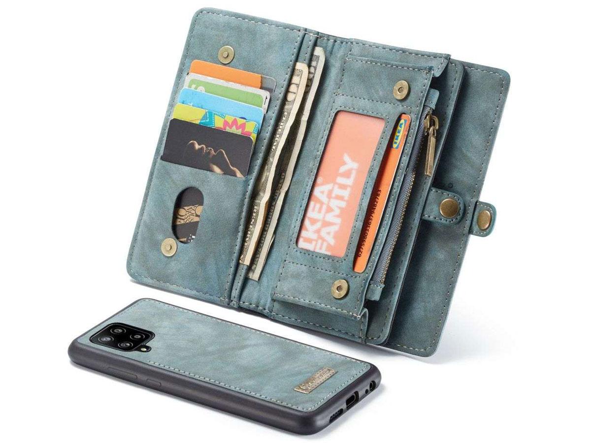 CaseMe 2in1 Wallet Ritsvak Case Blauw - Samsung Galaxy A42 5G Hoesje
