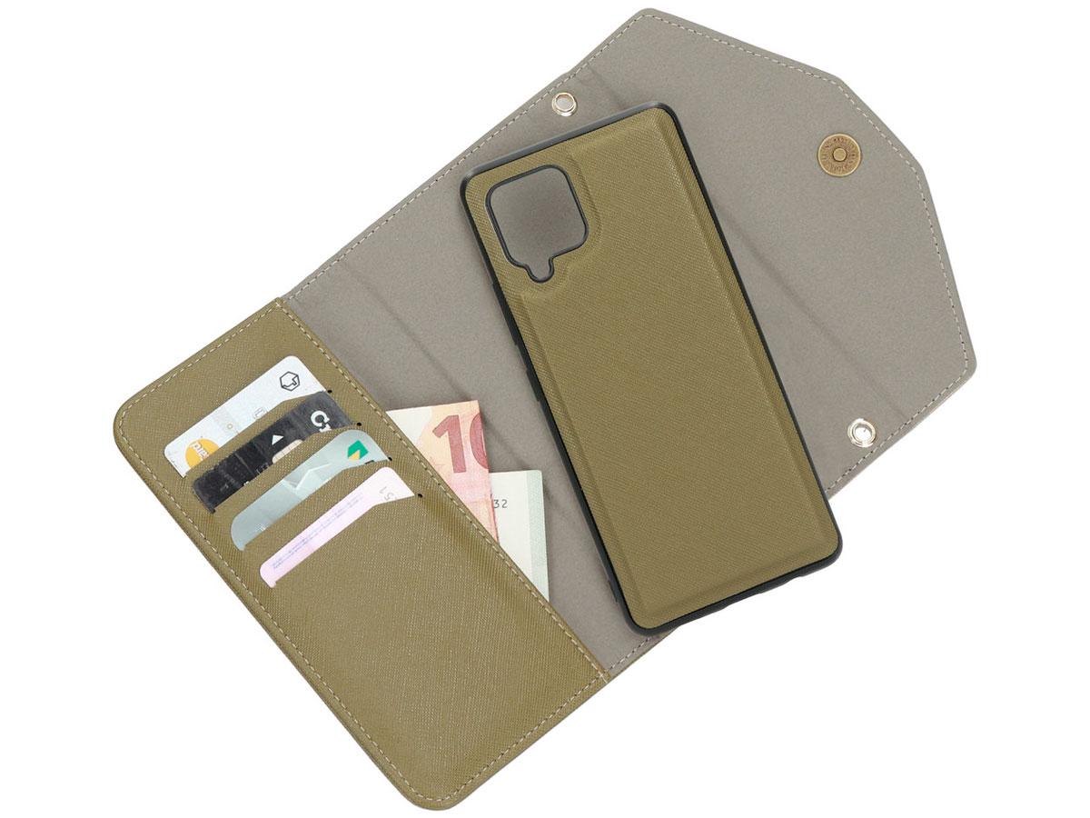 Casetastic Saffiano 2in1 Clutch Case Groen - Samsung Galaxy A42 hoesje