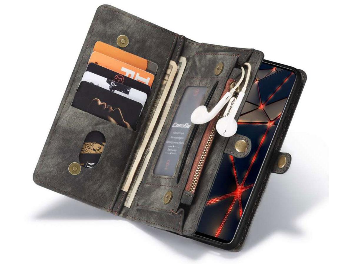 CaseMe 2in1 Wallet Ritsvak Case Zwart - Samsung Galaxy A51 Hoesje