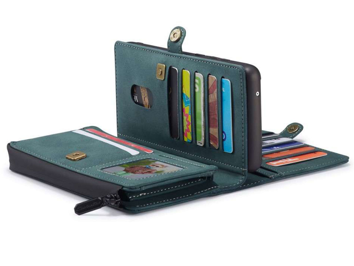 CaseMe Multi Wallet Ritsvak Case Blauw - Samsung Galaxy A51 Hoesje