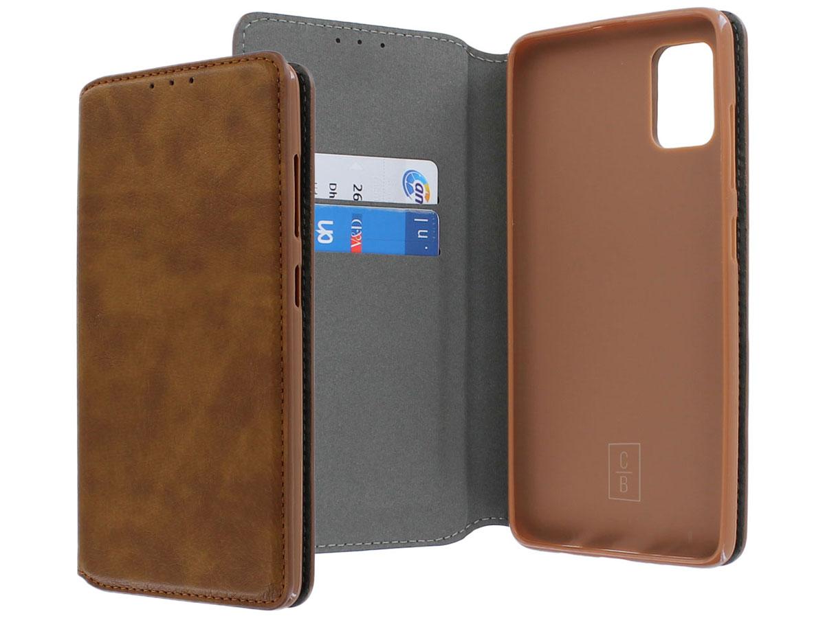 Magic Magnet Book Case Bruin - Samsung Galaxy A51 hoesje