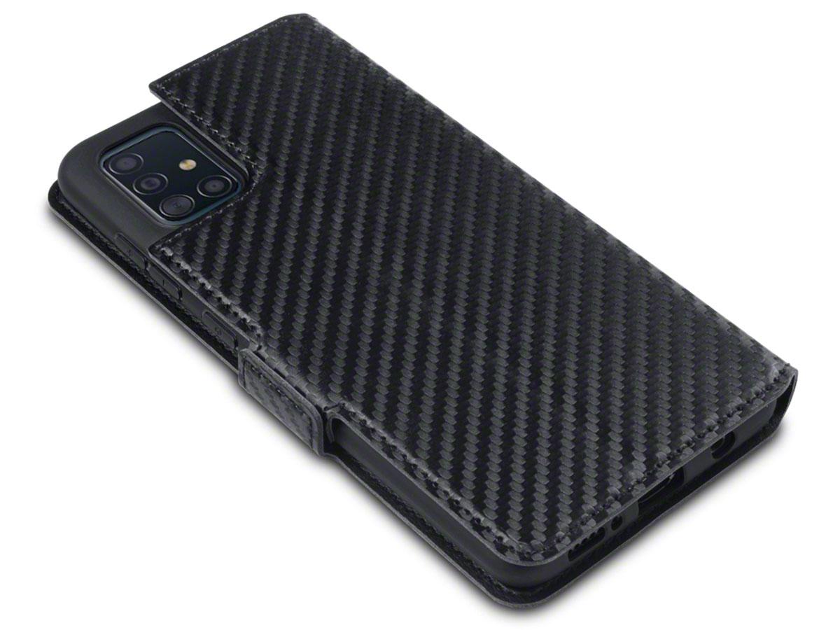 CaseBoutique Slim Bookcase Carbon - Samsung Galaxy A51 hoesje