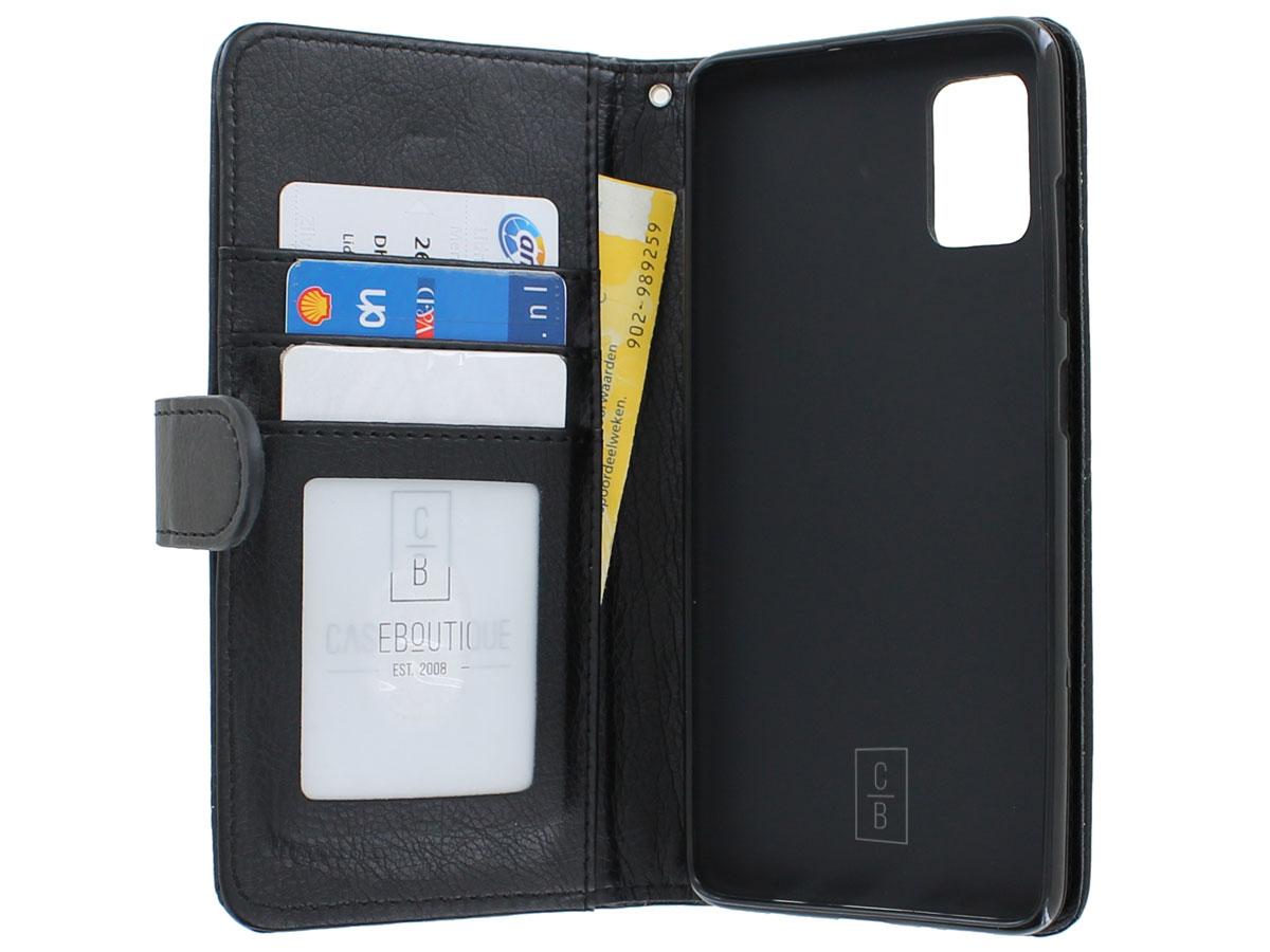 Glitsie Zip Case met Rits Zwart - Samsung Galaxy A51 hoesje