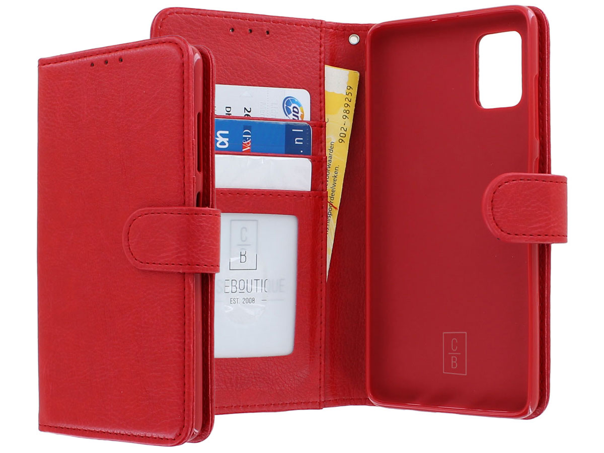 Book Case Deluxe Rood - Samsung Galaxy A51 hoesje
