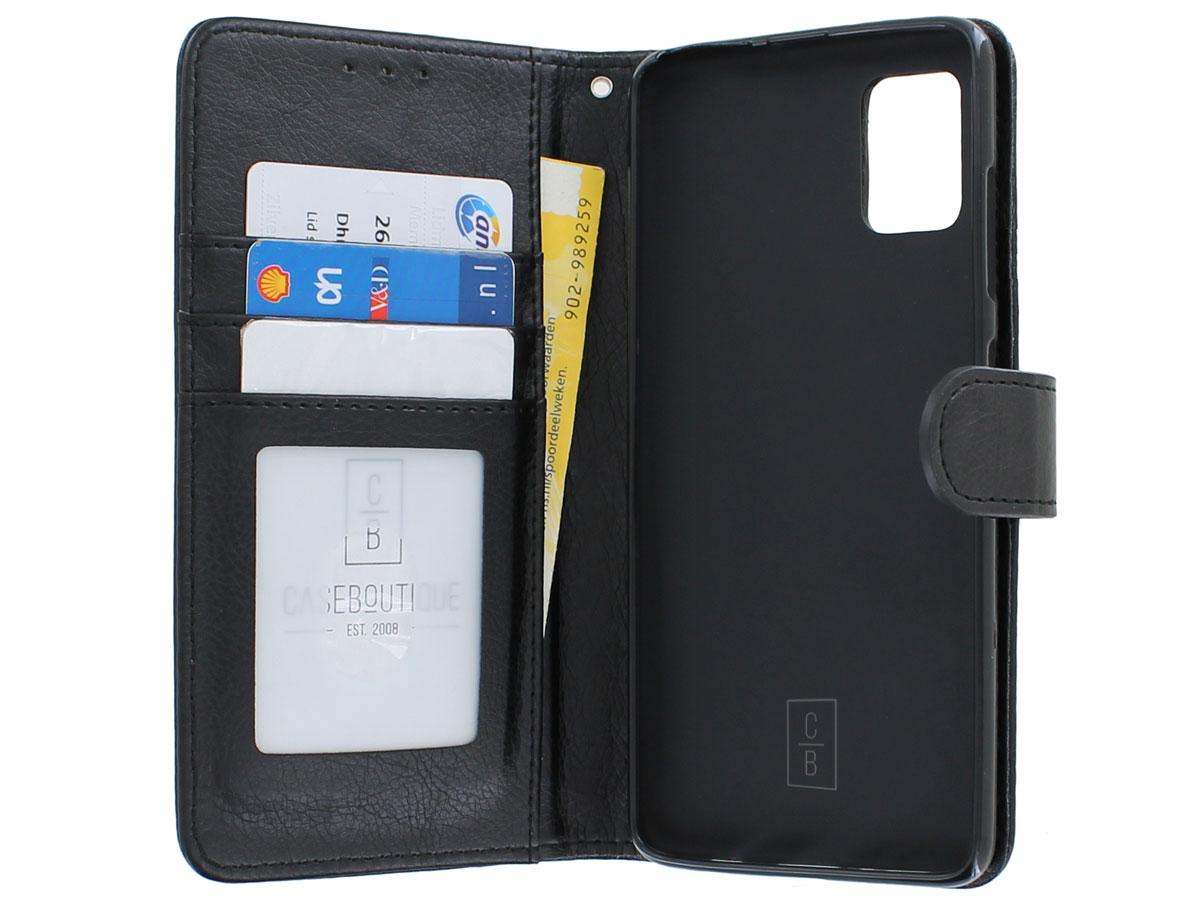 Book Case Deluxe Zwart - Samsung Galaxy A51 hoesje
