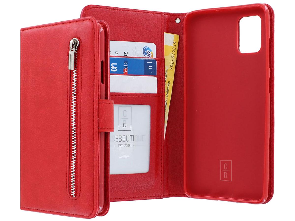 Book Case met Ritsvakje Rood - Samsung Galaxy A51 hoesje