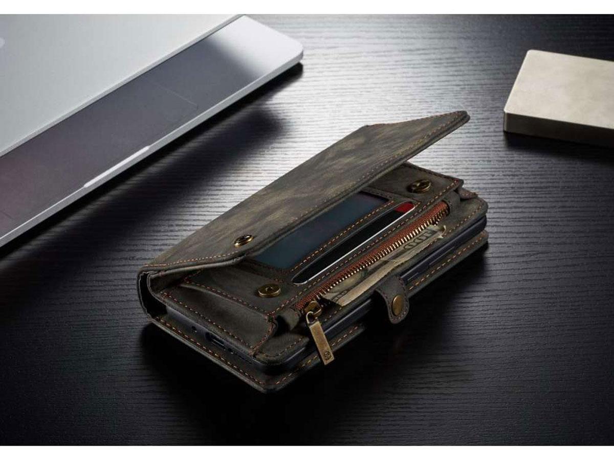 CaseMe 2in1 Wallet Ritsvak Case Zwart - Samsung Galaxy A52/A52s Hoesje