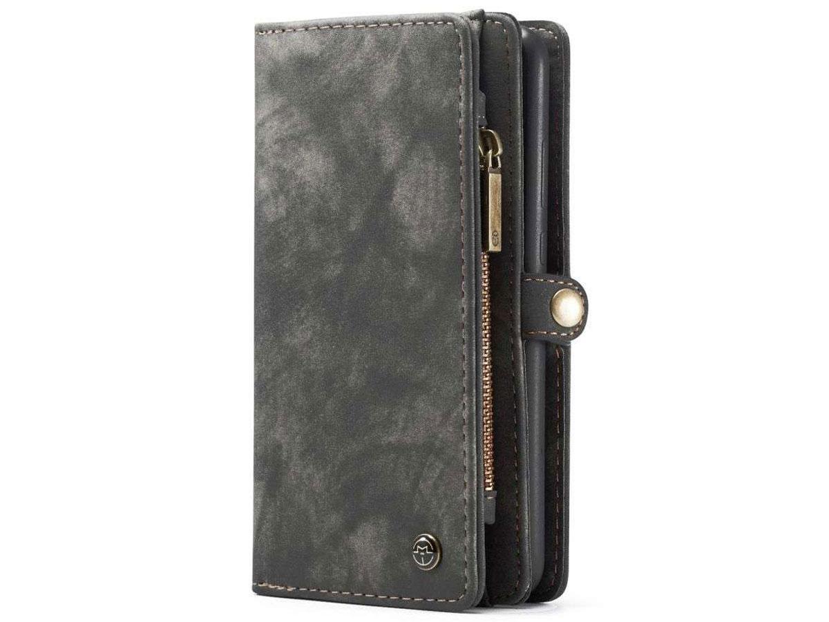CaseMe 2in1 Wallet Ritsvak Case Zwart - Samsung Galaxy A52 Hoesje