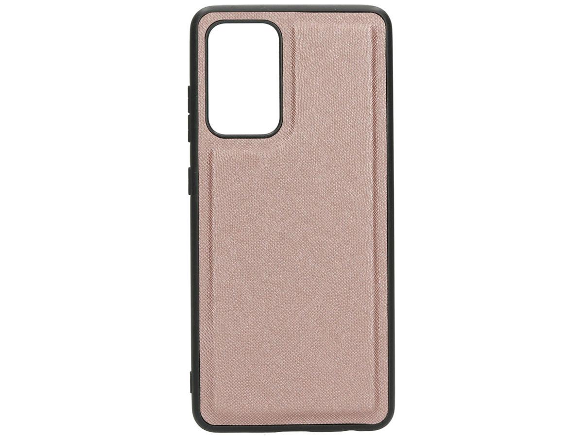 Casetastic Saffiano 2in1 Clutch Case Rosé - Samsung Galaxy A52 hoesje