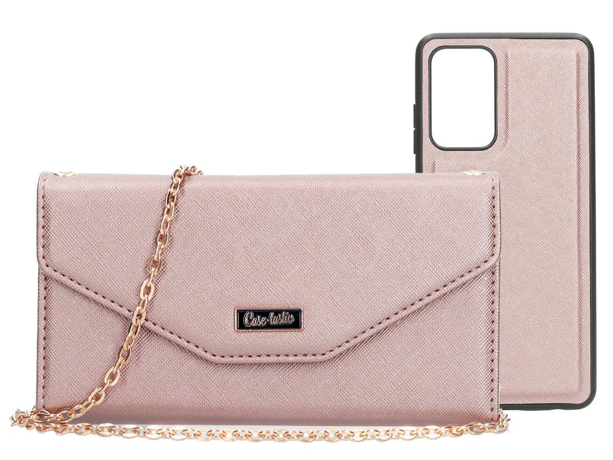 Casetastic Saffiano 2in1 Clutch Case Rose - Samsung Galaxy A52 hoesje Rose goud