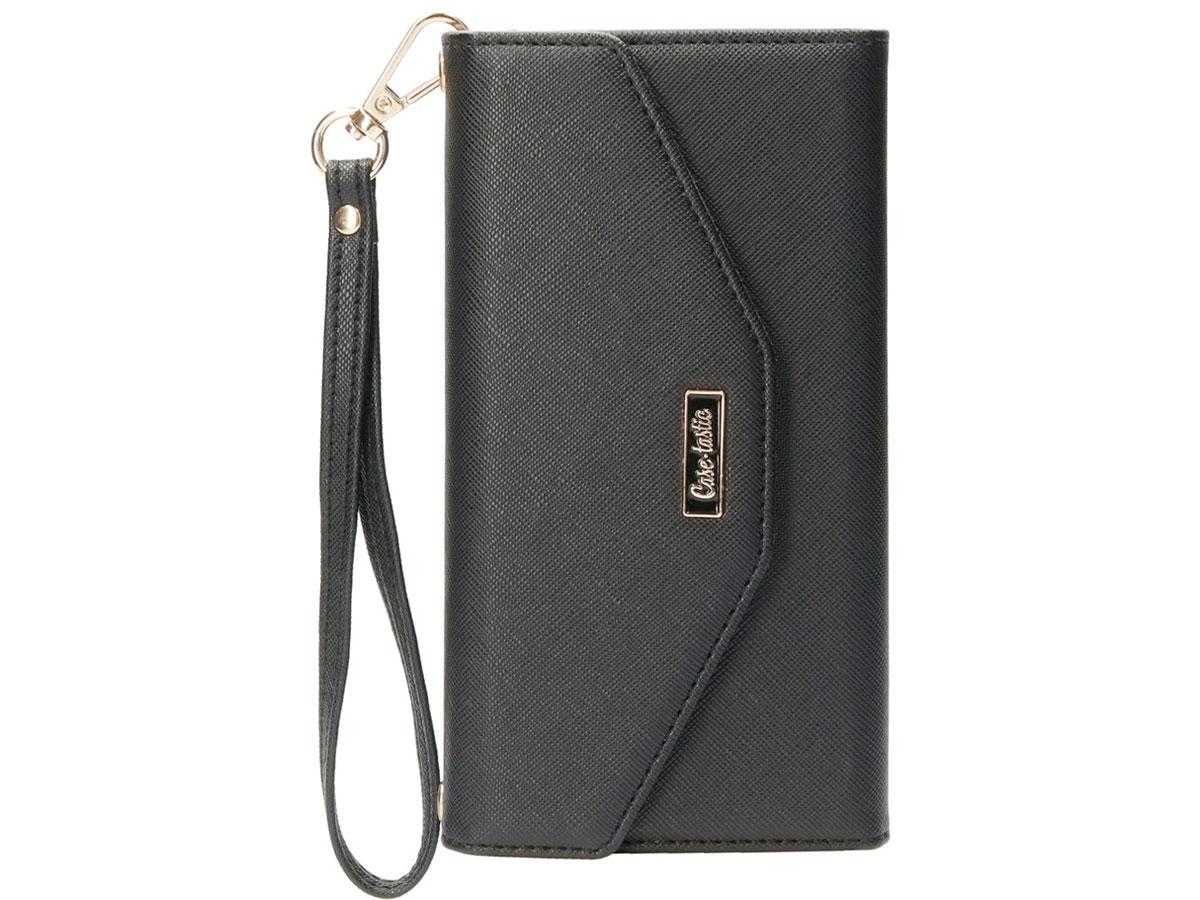 Casetastic Saffiano 2in1 Clutch Case Zwart - Samsung Galaxy A52/A52s hoesje