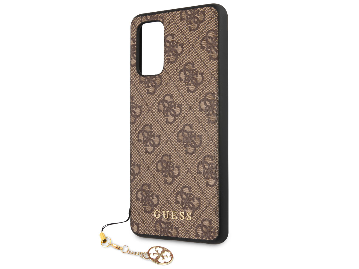 Guess Monogram Charm Case Bruin - Samsung Galaxy A52/A52s hoesje