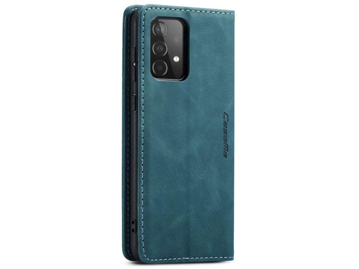 CaseMe Vintage BookCase Blauw - Samsung Galaxy A52/A52s hoesje