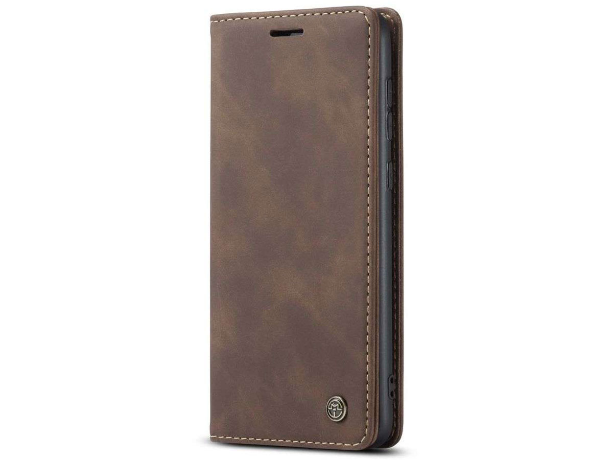 CaseMe Vintage BookCase Bruin - Samsung Galaxy A52/A52s hoesje