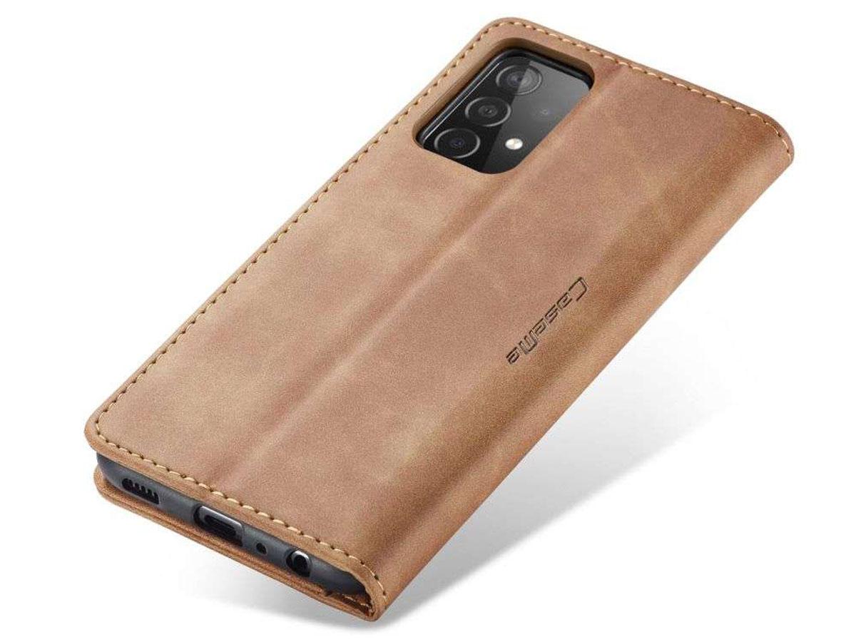CaseMe Vintage BookCase Tan - Samsung Galaxy A52/A52s hoesje