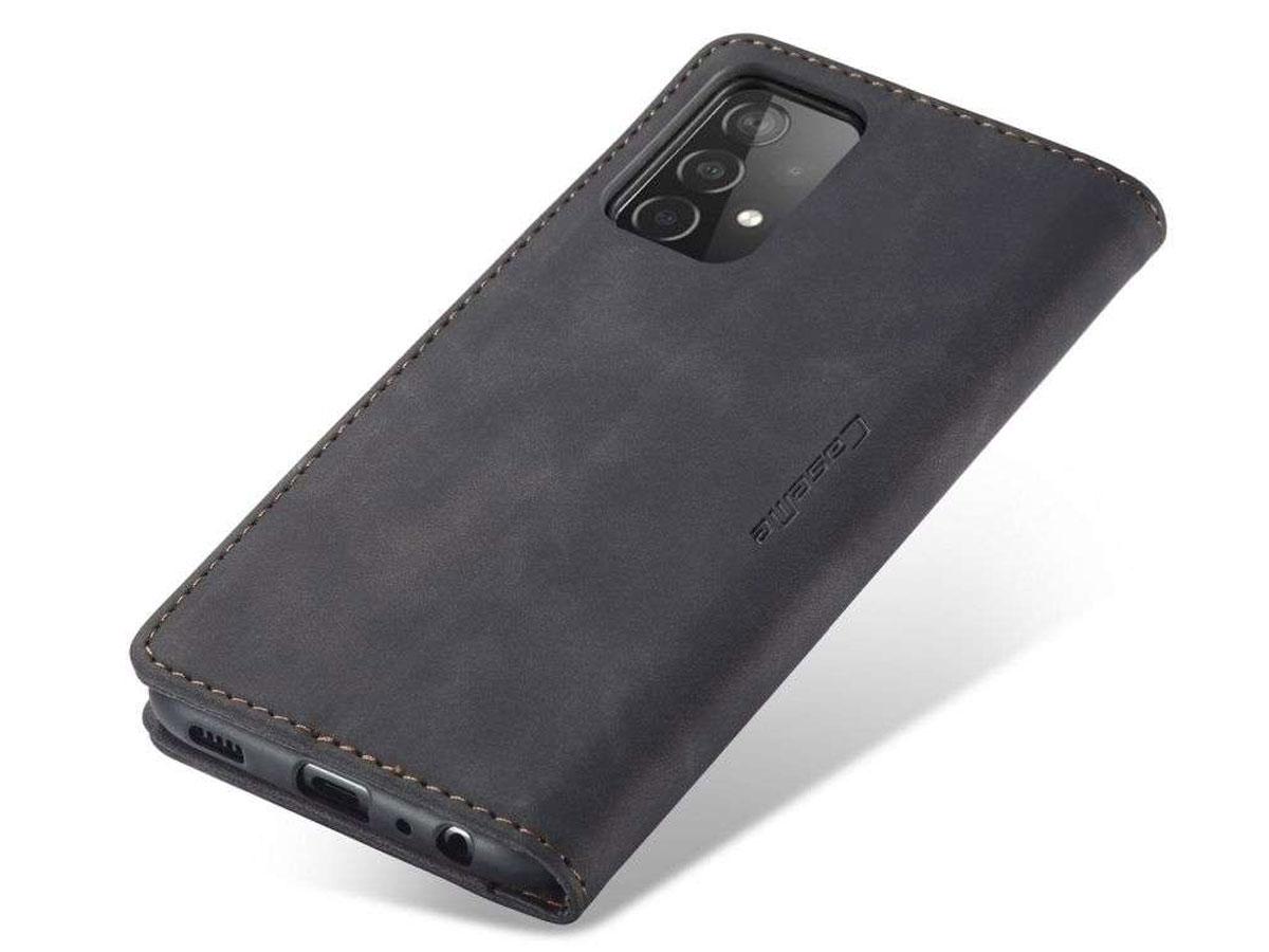 CaseMe Vintage BookCase Zwart - Samsung Galaxy A52/A52s hoesje
