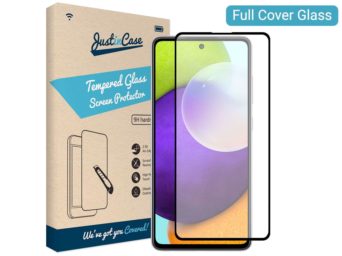 Samsung Galaxy A52 Screen Protector Curved Glass Full Cover Transparant